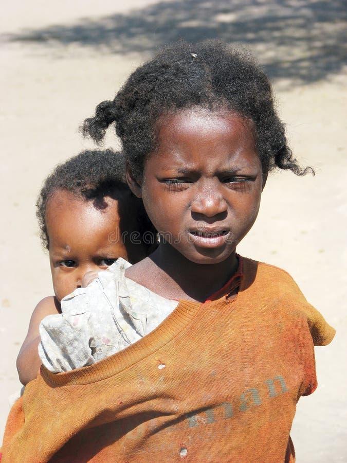 malagasy barn royaltyfri fotografi