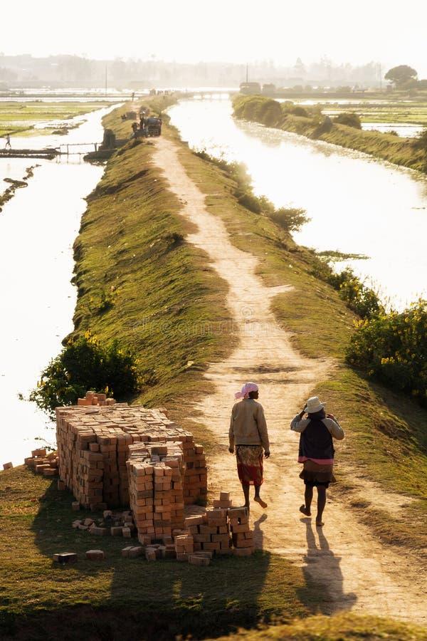 Malagasy bricks royalty free stock images