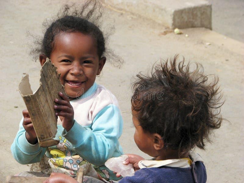 Malagasy children stock image
