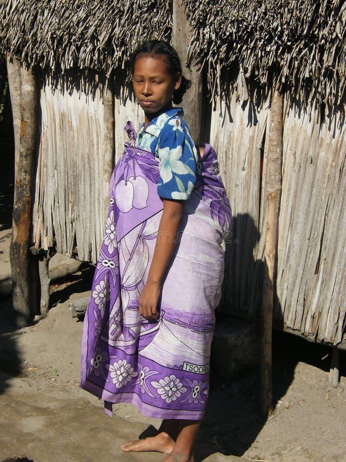 malagasy infödd kvinna royaltyfri foto