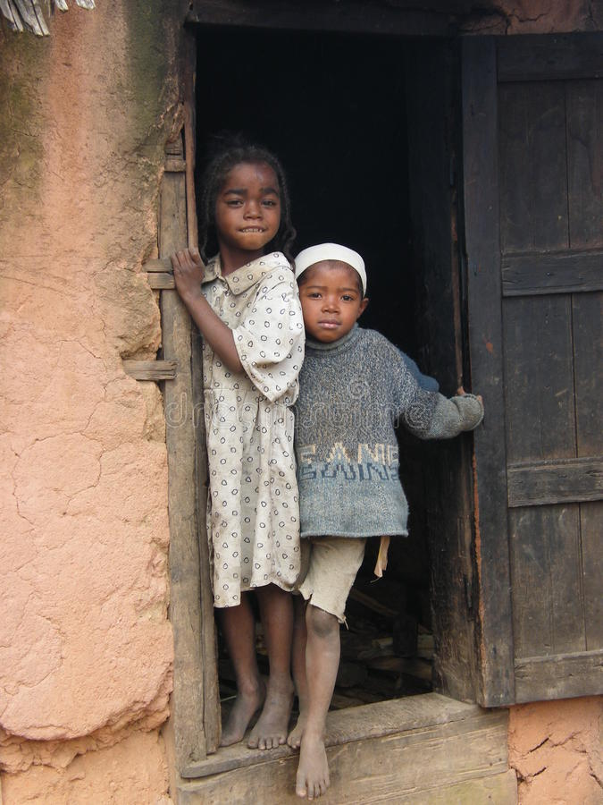 Malagasy Native Children Editorial Photography