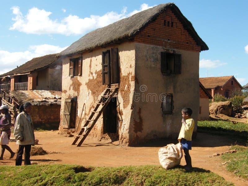 Malagasy native house royalty free stock image