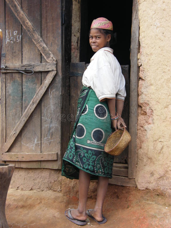 Malagasy native woman stock image