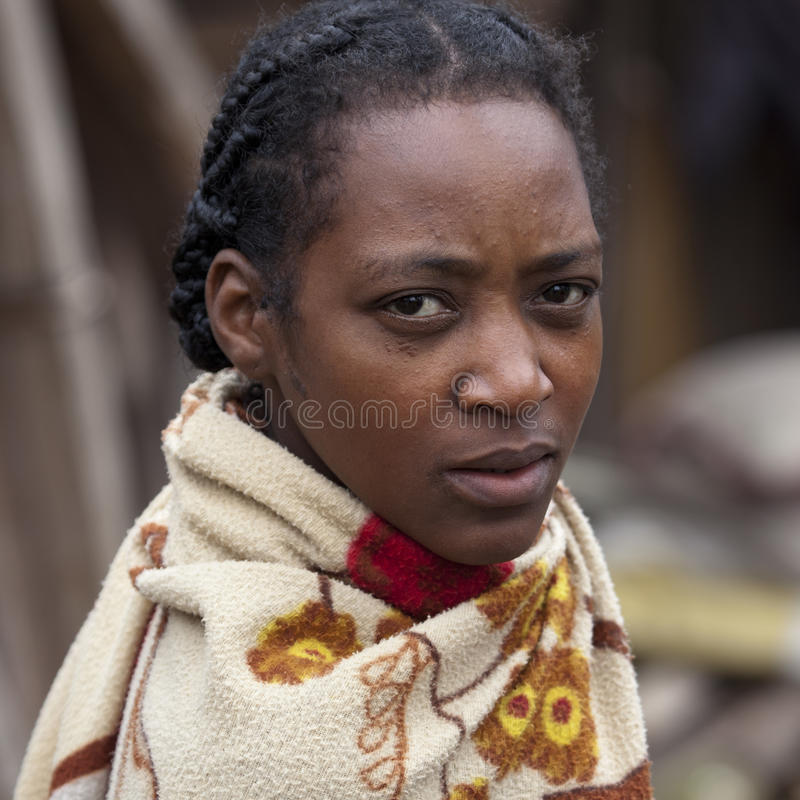 Malagasy woman royalty free stock image