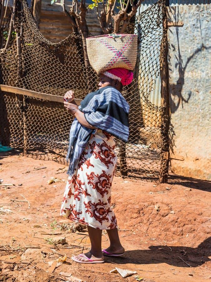 Malagasy woman in Antsiranana Diego Suarez, Madagascar, Africa stock images