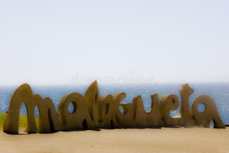 Malagueta Λα παραλιών της Μάλαγας στοκ εικόνες με δικαίωμα ελεύθερης χρήσης