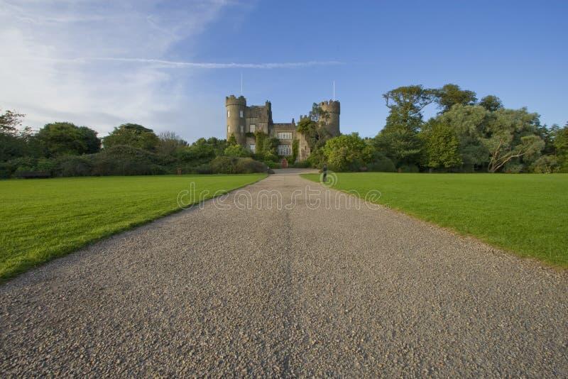 Malahide castle. The walk up to Malahide Castle stock photography