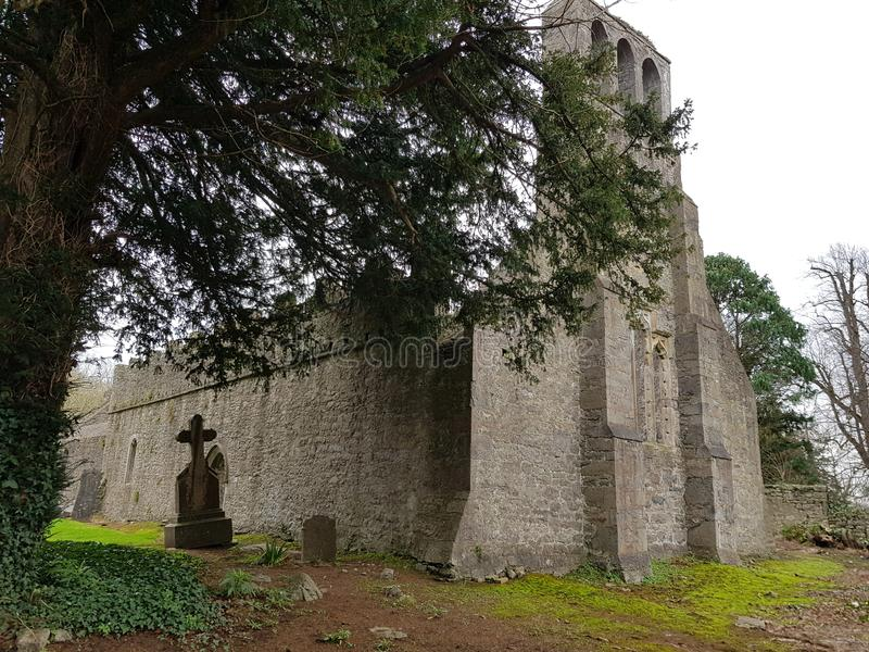 Malahide castle church and graveyard royalty free stock photo