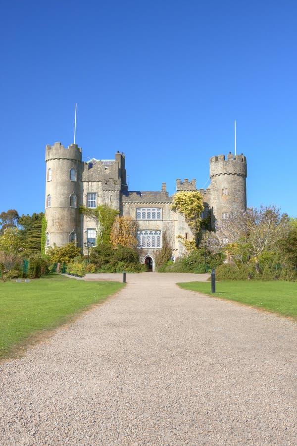 Malahide Schloss in Dublin, Irland. stockbild