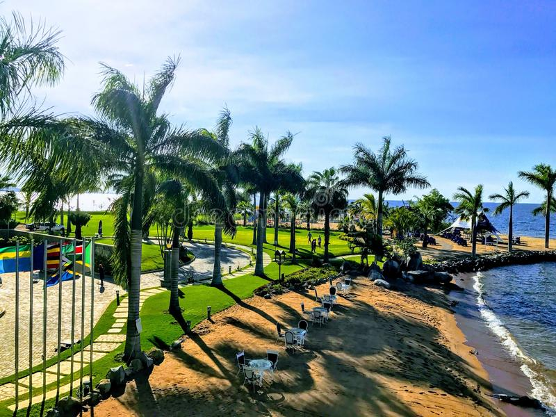 Malaika海滩 免版税库存照片