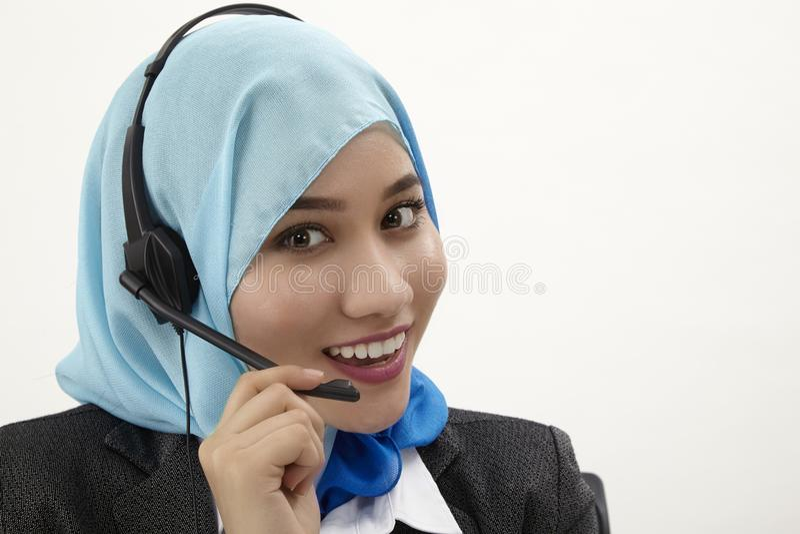 Malajiska receptionist, royaltyfri bild