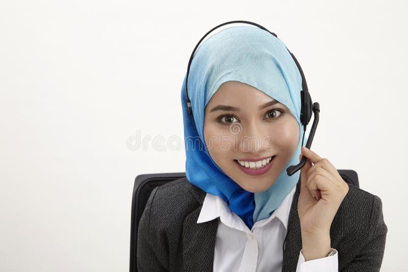 Malajiska receptionist, royaltyfri fotografi