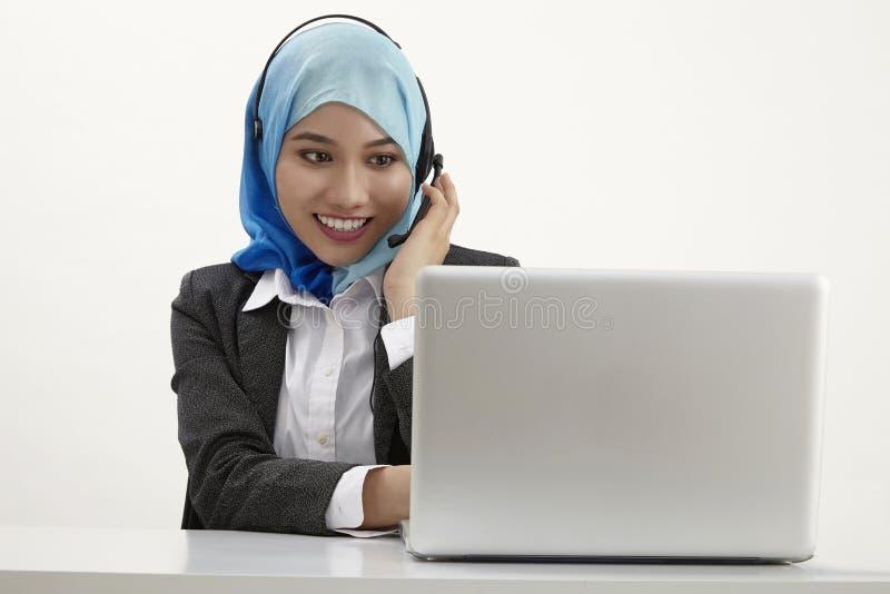 Malajiska receptionist, arkivfoto