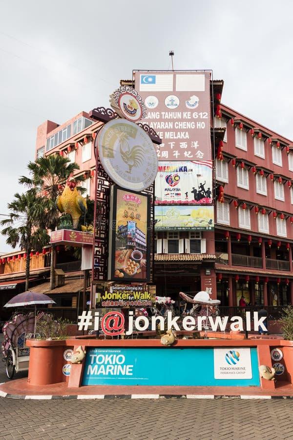 Malaka, Malaysia, December 11 2017: Jonker walk shopping street stock photos