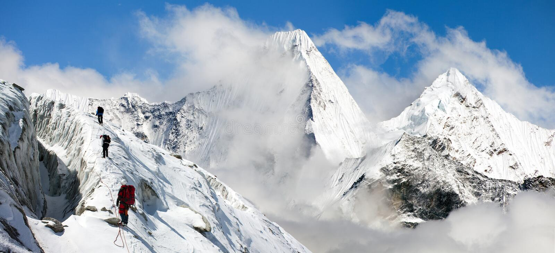 Malangphulang, Mooi panorama van Himalayagebergte stock afbeelding