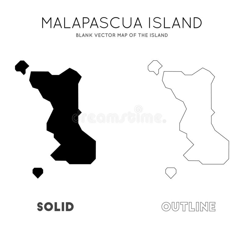Malapascua wyspy mapa ilustracji