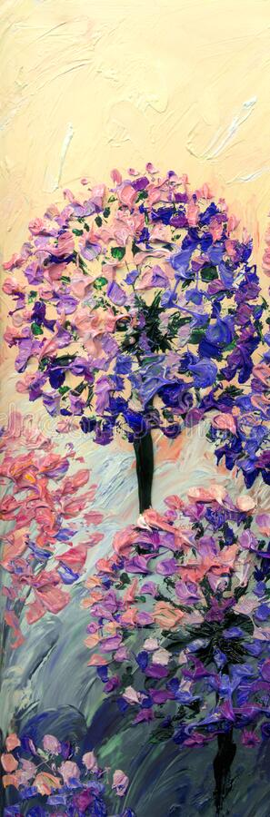 Malarstwo olejne Jasna cebula Kwiaty obraz royalty free