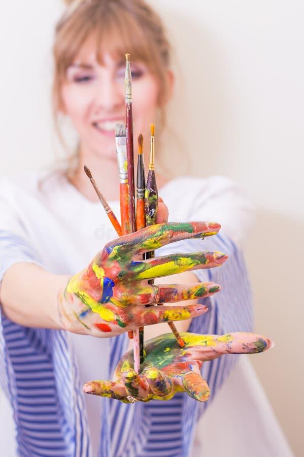 malarz dziewczyna obrazy stock