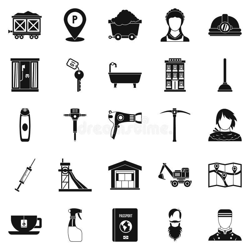 Malarz ikony ustawiać, prosty styl ilustracji