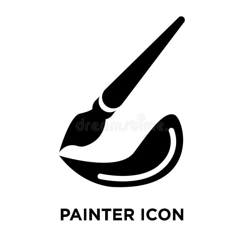 Malarz ikony wektor odizolowywający na białym tle, loga pojęcie o ilustracji