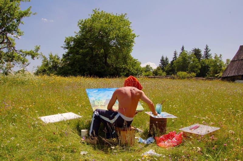 malarz pola zdjęcia stock