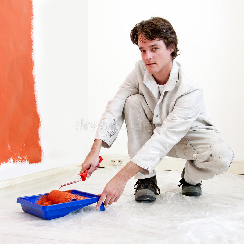 malarz praca zdjęcia stock