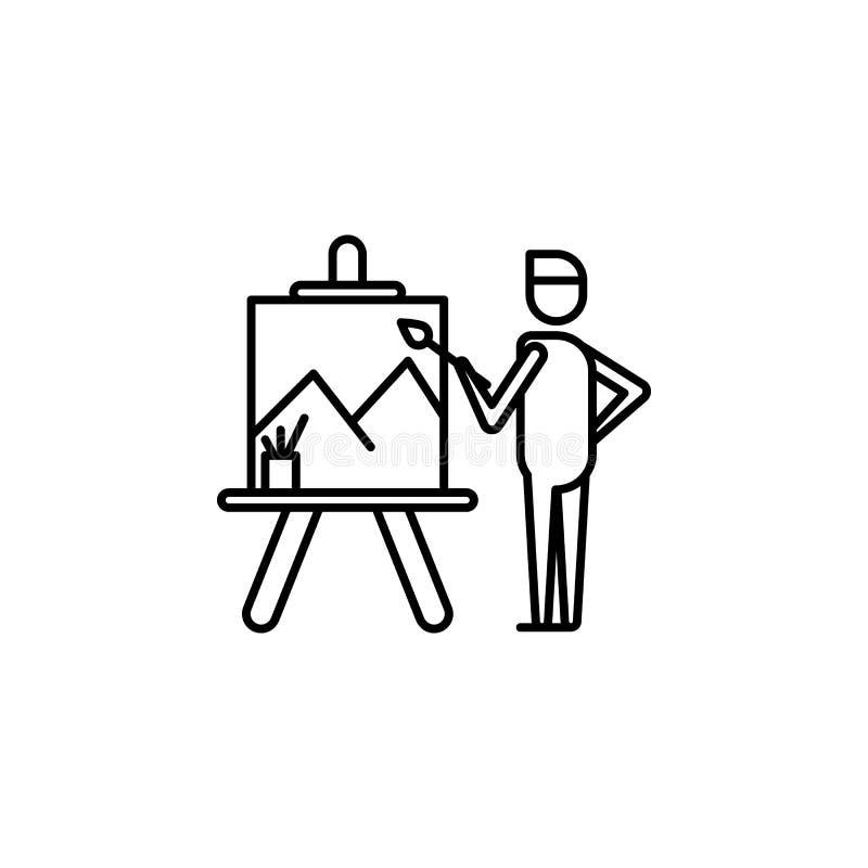 malarza konturu ikona Element styl życia ilustracji ikona Premii ilo?ci graficzny projekt Znaki i symbol inkasowa ikona dla royalty ilustracja