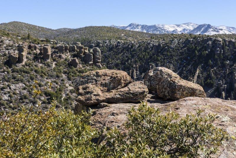 Malas sombras en el monumento nacional de Chiricahua fotos de archivo libres de regalías
