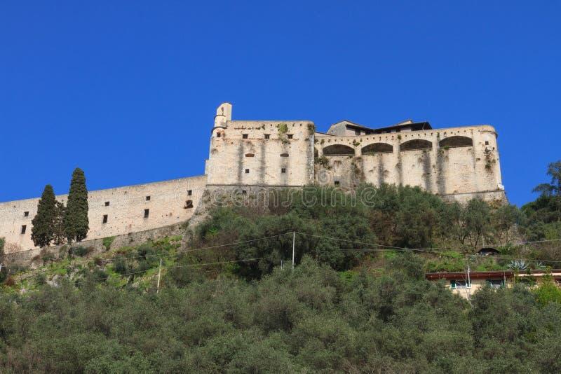 Malaspinakasteel in Massa, Toscanië, Italië royalty-vrije stock afbeelding