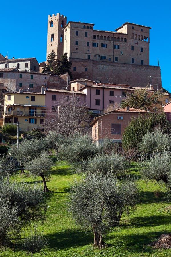 Malatesta castle in longiano stock photo