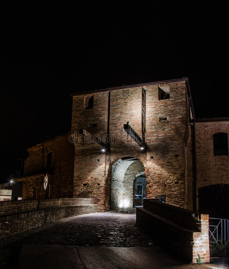 Malatesta castle of Mondaino (Rimini) royalty free stock images