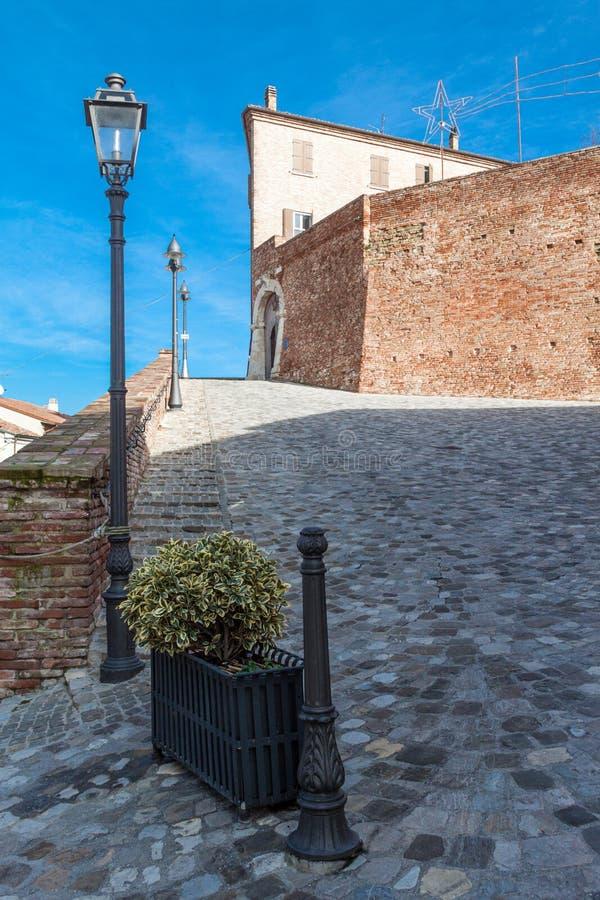 Malatesta fortress of montiano stock image
