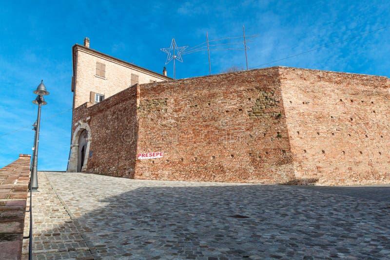 Malatesta fortress of montiano stock photos