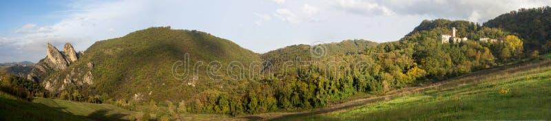 Malatina Emilia-romagna Italie de roche de parc naturel photos libres de droits