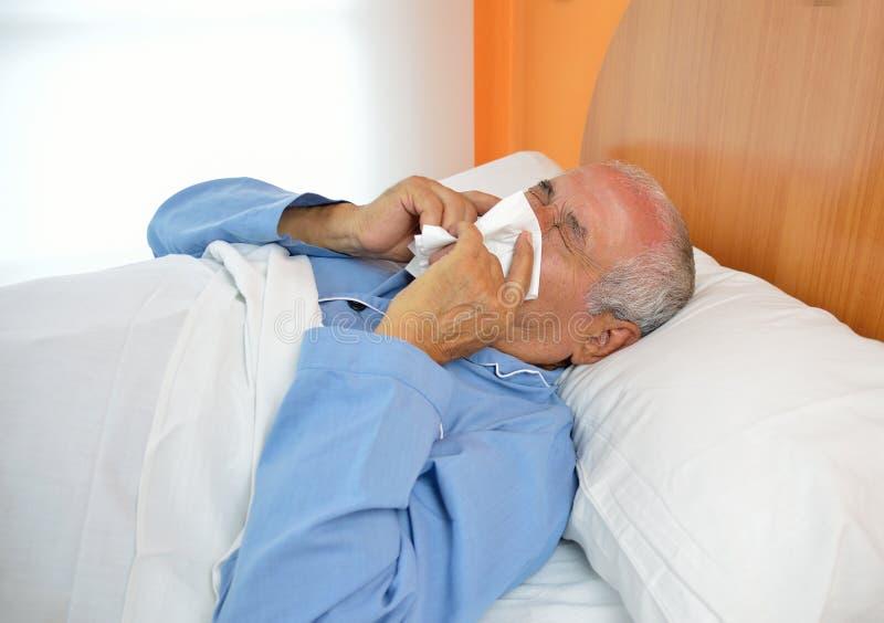 Malattia nell'invecchiamento fotografia stock