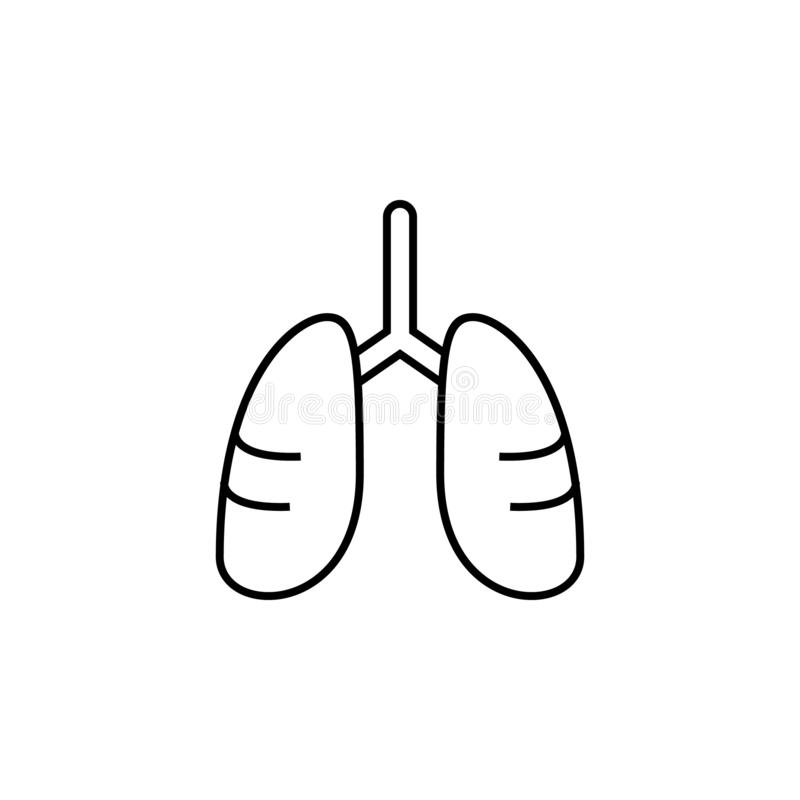Malattie, polmoni Dolori del muscolo, freddo e bronchite, polmonite e febbre, illustrazione medica di salute - vettore royalty illustrazione gratis
