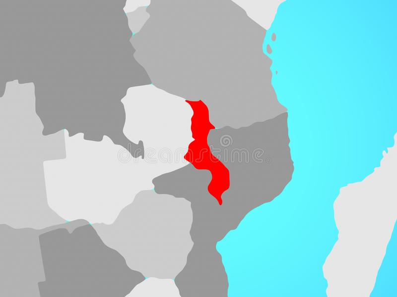 Malawi auf Karte vektor abbildung