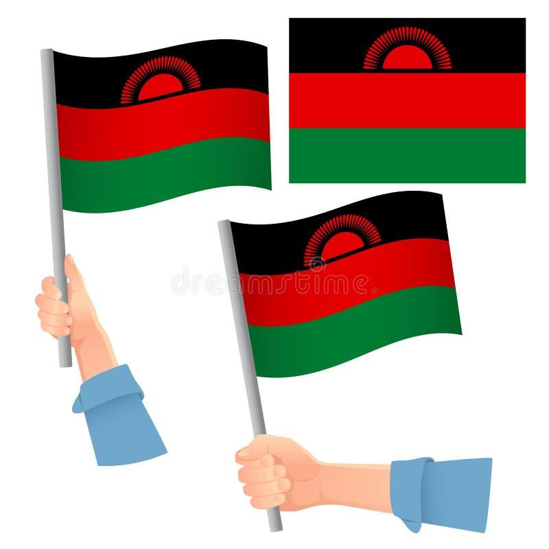 Malawi-Fahne stock abbildung