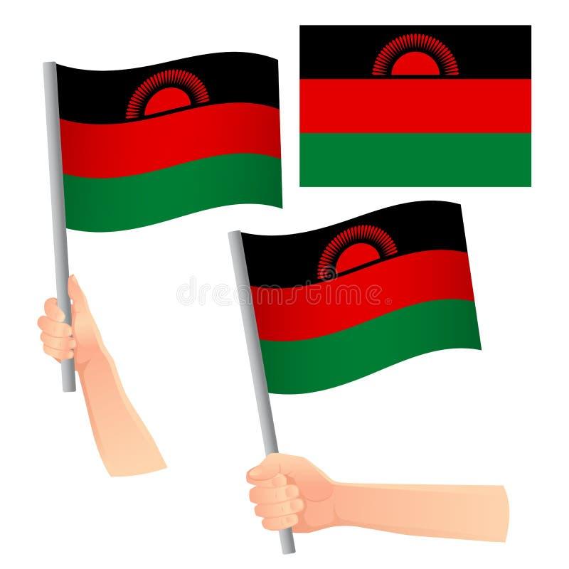 Malawi-Fahne lizenzfreie abbildung