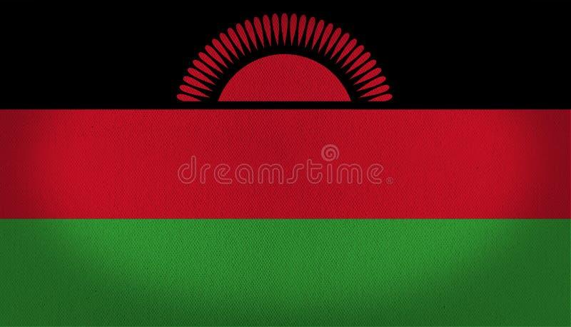 Malawi-Flagge vektor abbildung