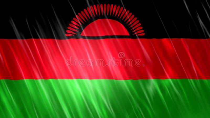 Malawi-Flagge lizenzfreie abbildung