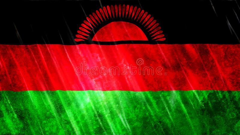 Malawi-Flagge stock abbildung