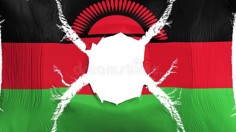 Malawi-Flagge mit einem Loch vektor abbildung