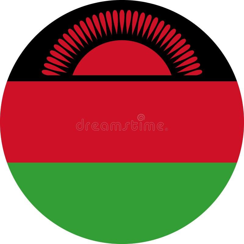 Malawi-Flaggen-Afrika-Illustrationsvektor ENV lizenzfreie abbildung