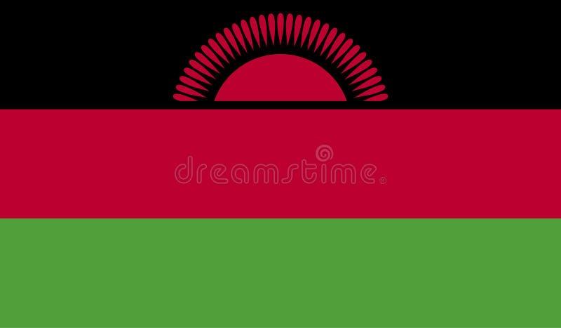 Malawi-Flaggenbild lizenzfreie abbildung