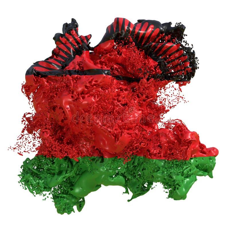 Malawi-Flaggenflüssigkeit vektor abbildung