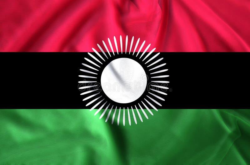 Malawi-Flaggenillustration lizenzfreie abbildung
