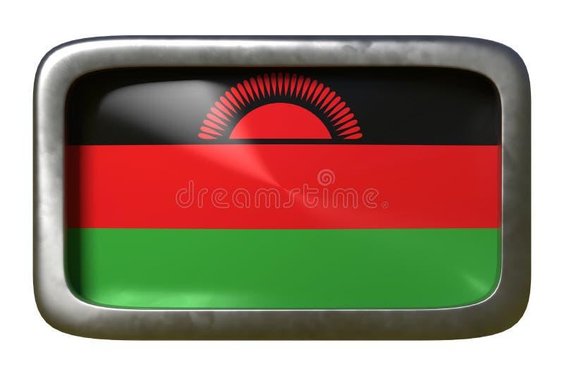 Malawi-Flaggenzeichen lizenzfreie abbildung