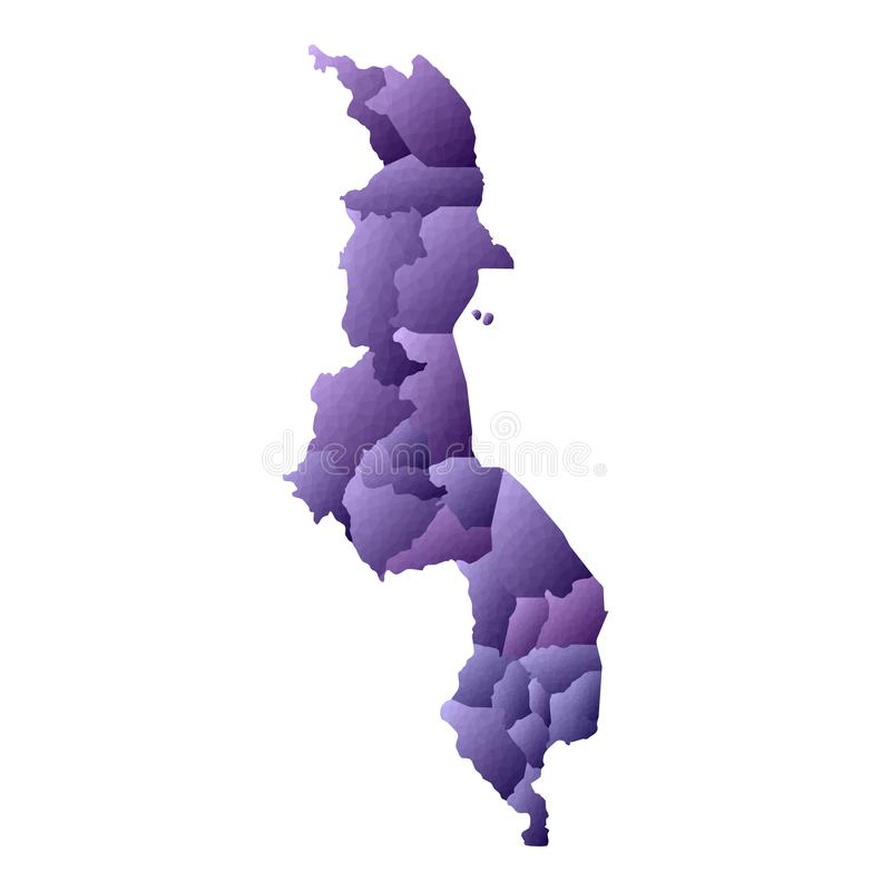 Malawi-Karte vektor abbildung