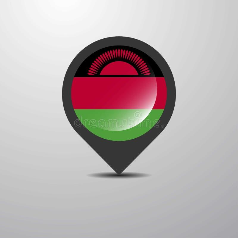 Malawi-Karte Pin stock abbildung